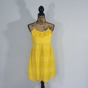 Tibi Summer Lace Halter Mini Dress